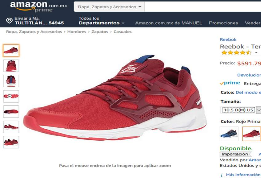 Adapt Patorce 9 Fury Rojos Mx 5 9 Azul Tenis Reebok Amazon Y Del qtYSE