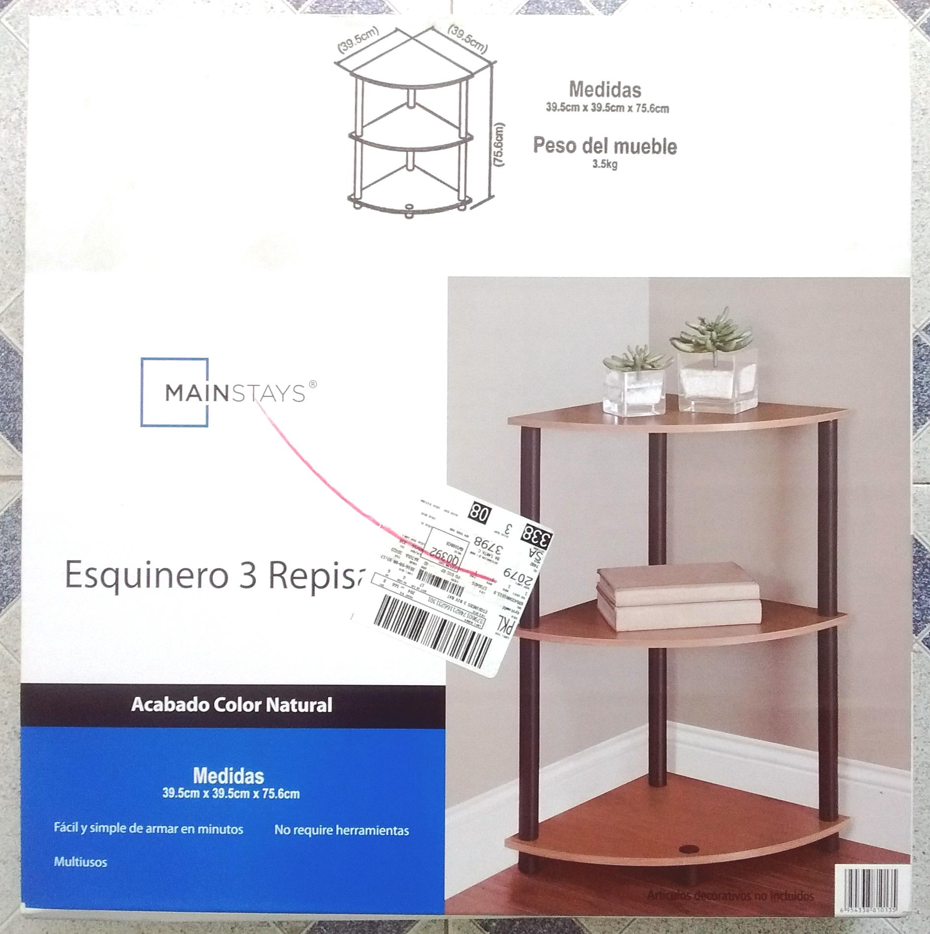 Bodega Aurrerá: Esquinero con 3 Repisas Mainstays - promodescuentos.com