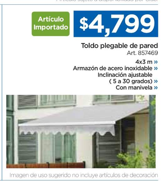 Opinion sobre toldo retr ctil sams club for Toldo retractil precio