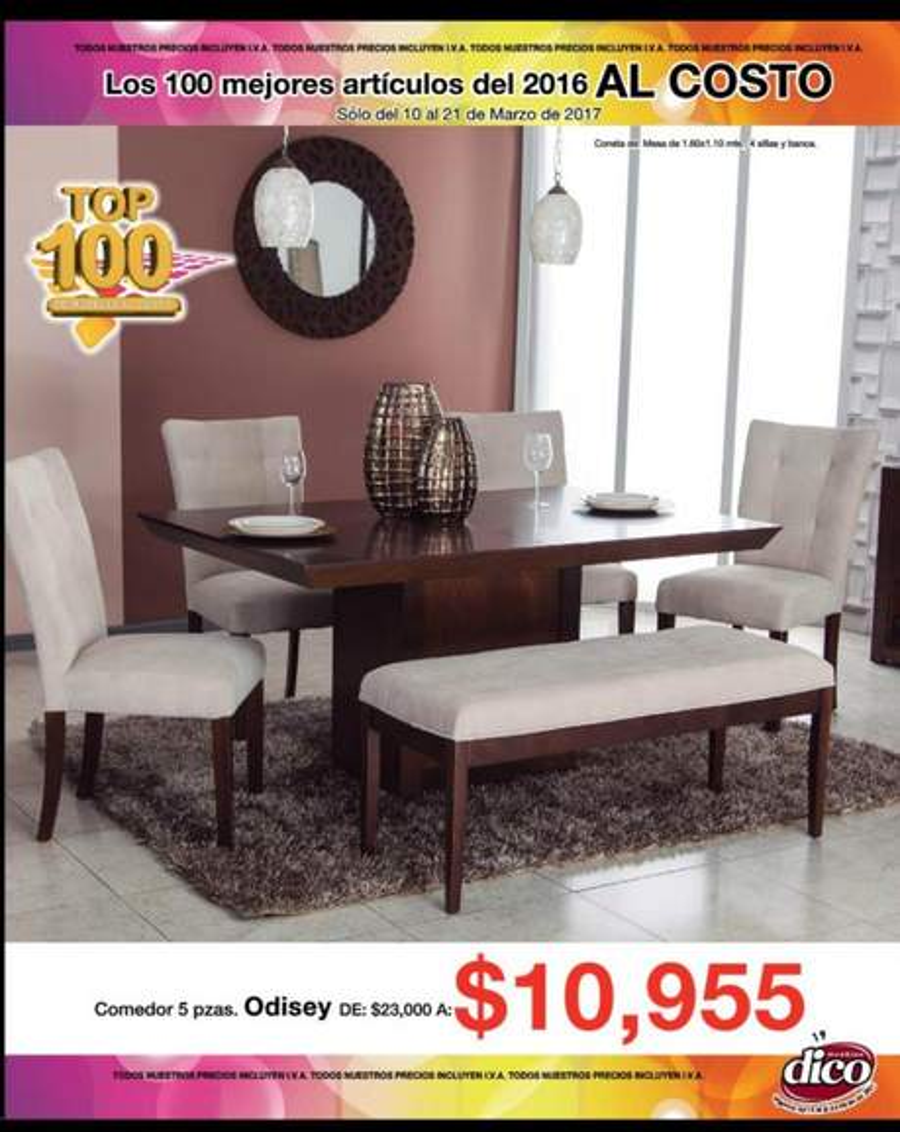 Muebles Dico: folleto `top 100´ de rebajas Al Costo ...