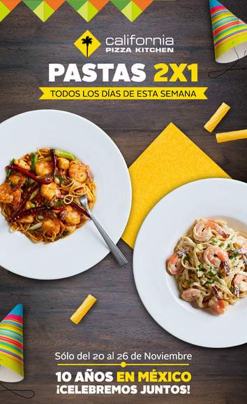 California Pizza Kitchen Mexico Promociones