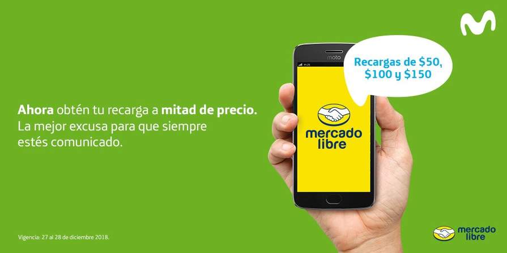 72fd2d7f2ad APP MERCADO LIBRE: 50% OFF RECARGAS MOVISTAR - promodescuentos.com