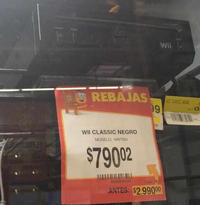 Walmart: Wii negro con 2 juegos $790