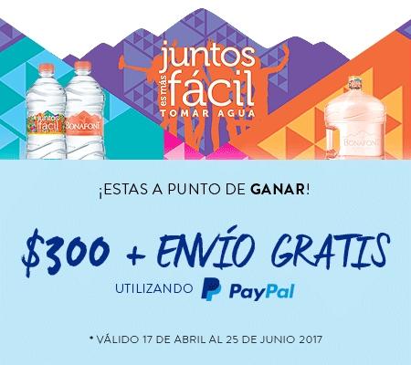 Bonafont: $300 pesos + Envio Gratis al pagar con paypal en privalia