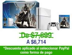 Decompras: PS4 500GB edición especial Destiny $6,714 y 6 meses sin intereses