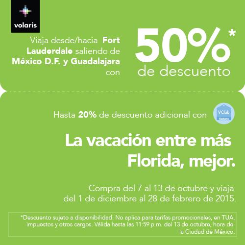 Volaris: nueva ruta a Miami con 50% de descuento ($228 dólares redondo)