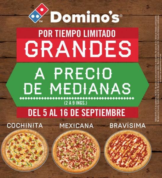 Domino's Pizza: pizzas grandes a precio de medianas