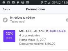 Cabify: Descuento solo Guadalajara
