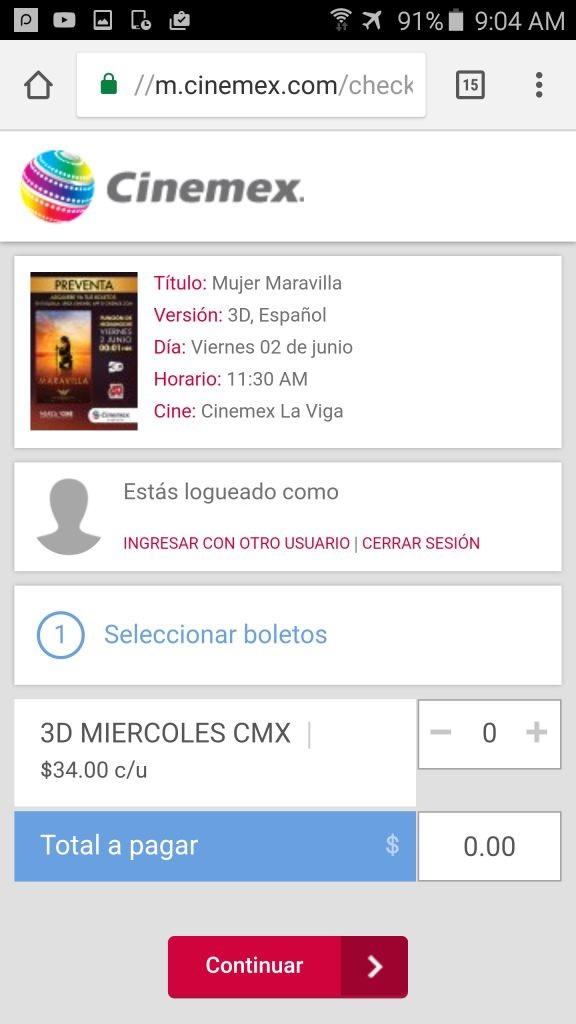 Cinemex La Viga: la mujer maravilla boleto 3D a partir del 2 de junio
