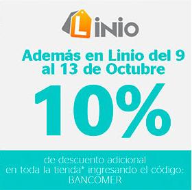 Linio: 10% descuento y 12 meses sin intereses en toda la tienda