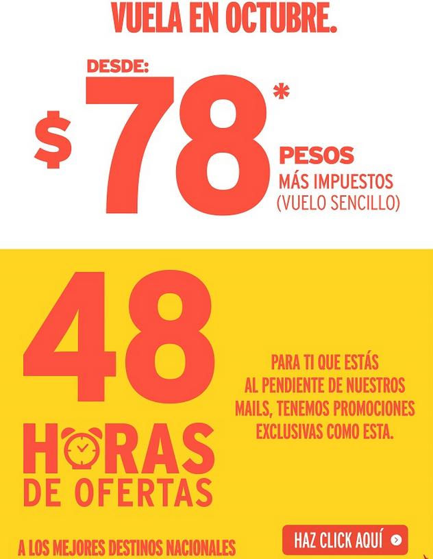 Vivaaerobus: vuelos desde $664 vuelo sencillo desde Monterrey, Guadalajara, México D.F.