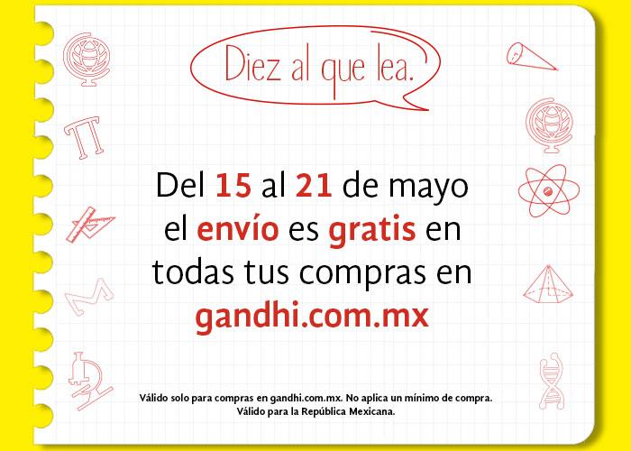 Gandhi: Envío gratis del 15 al 21 de mayo