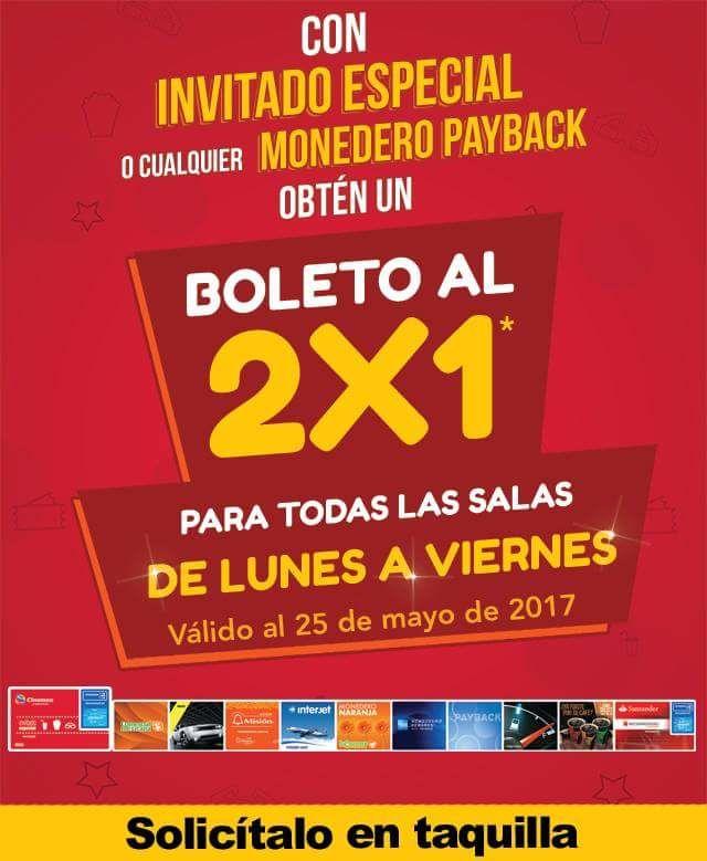 Cinemex: 2x1 lunes a viernes con Monedero Payback