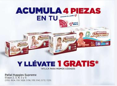 Farmacias del ahorro: En la compra acumulada de 4 paquetes de pañales, te llevas uno gratis