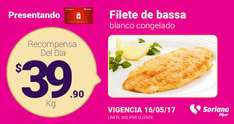 Soriana Hiper: Filete bassa $39.90