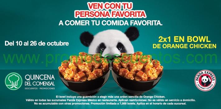 Panda Express: 2x1 en bowl de orange chicken