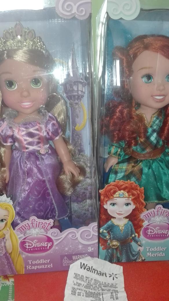 Waltmart: Muñecas de Rapunzel y Merida a $80.01