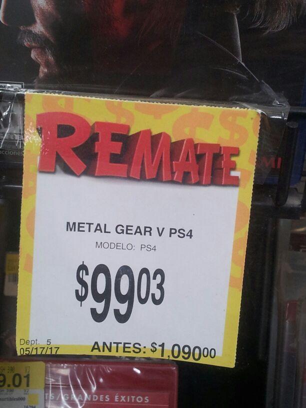 Bodega Aurrerá: MGS V PS4 a $99.03
