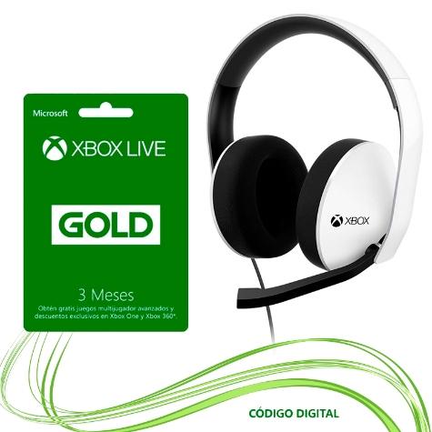 ELEKTRA: Xbox Audífonos + Tarjeta Xbox Live 3 Meses