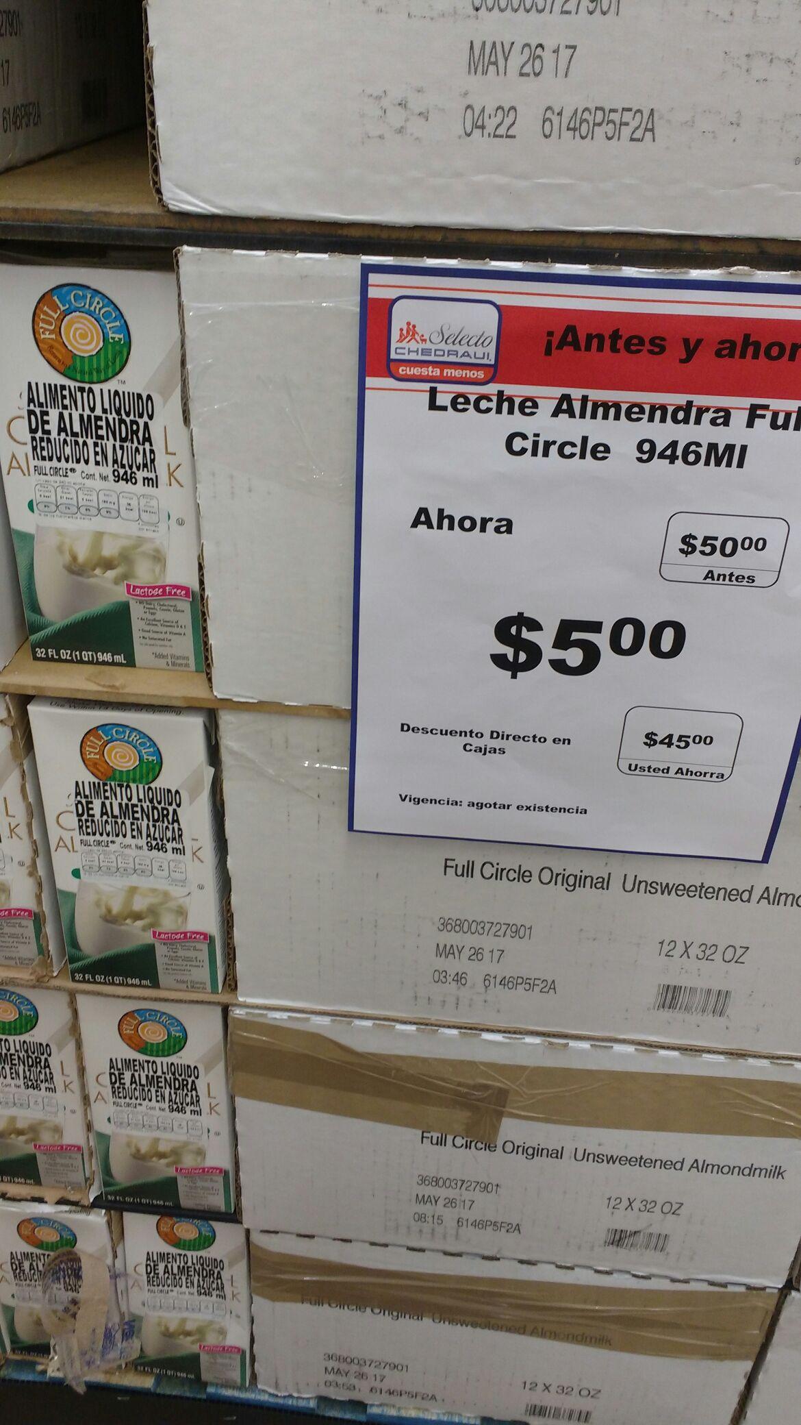 Chedraui Selecto diamante Acapulco: leche de almendras