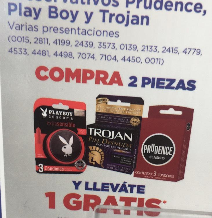 Farmacias del Ahorro: Compra 2 paquetes condone y llevate 1 gratis