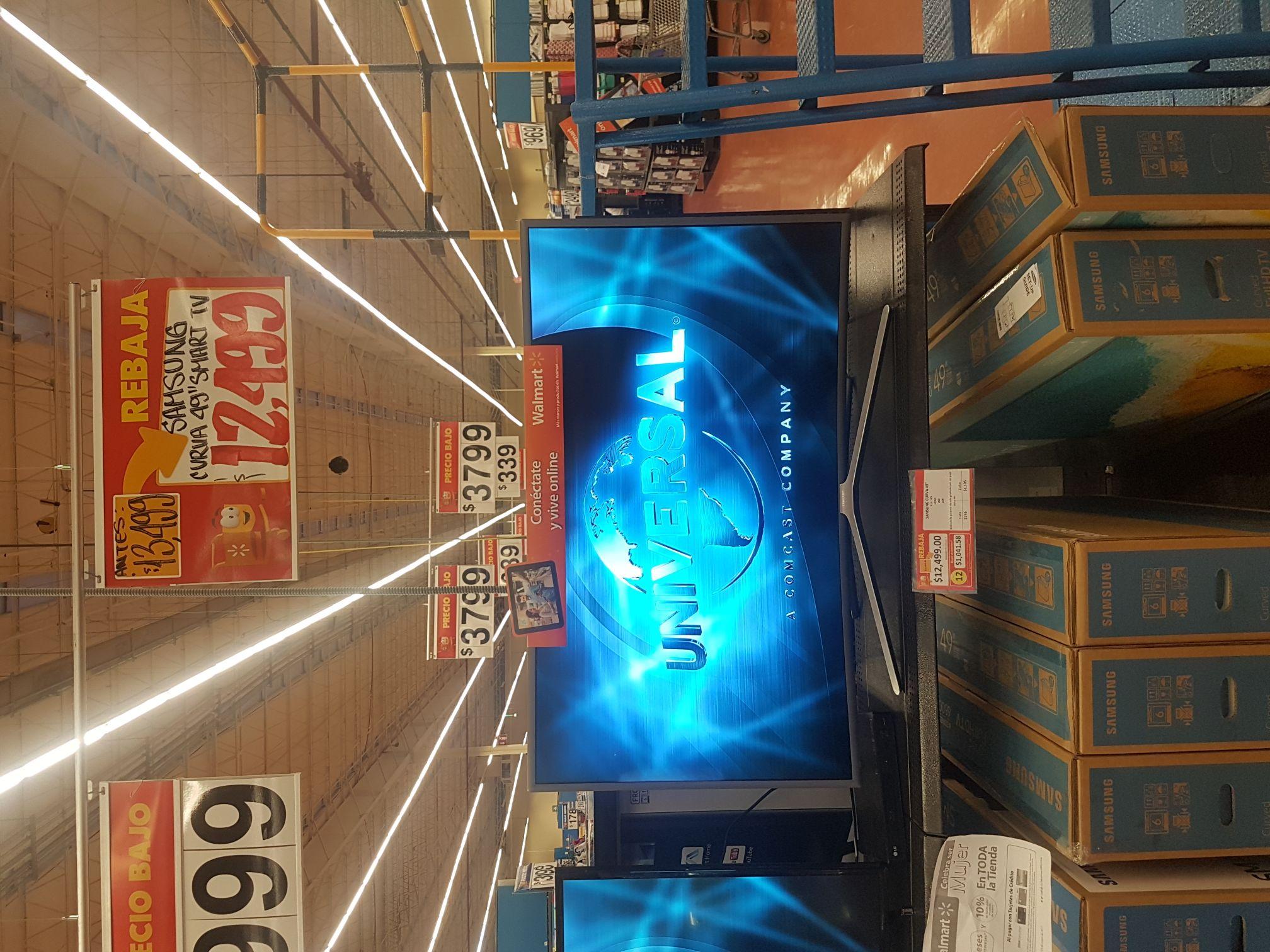 "Walmart: pantalla Samsung Smart TV Curva 49"""