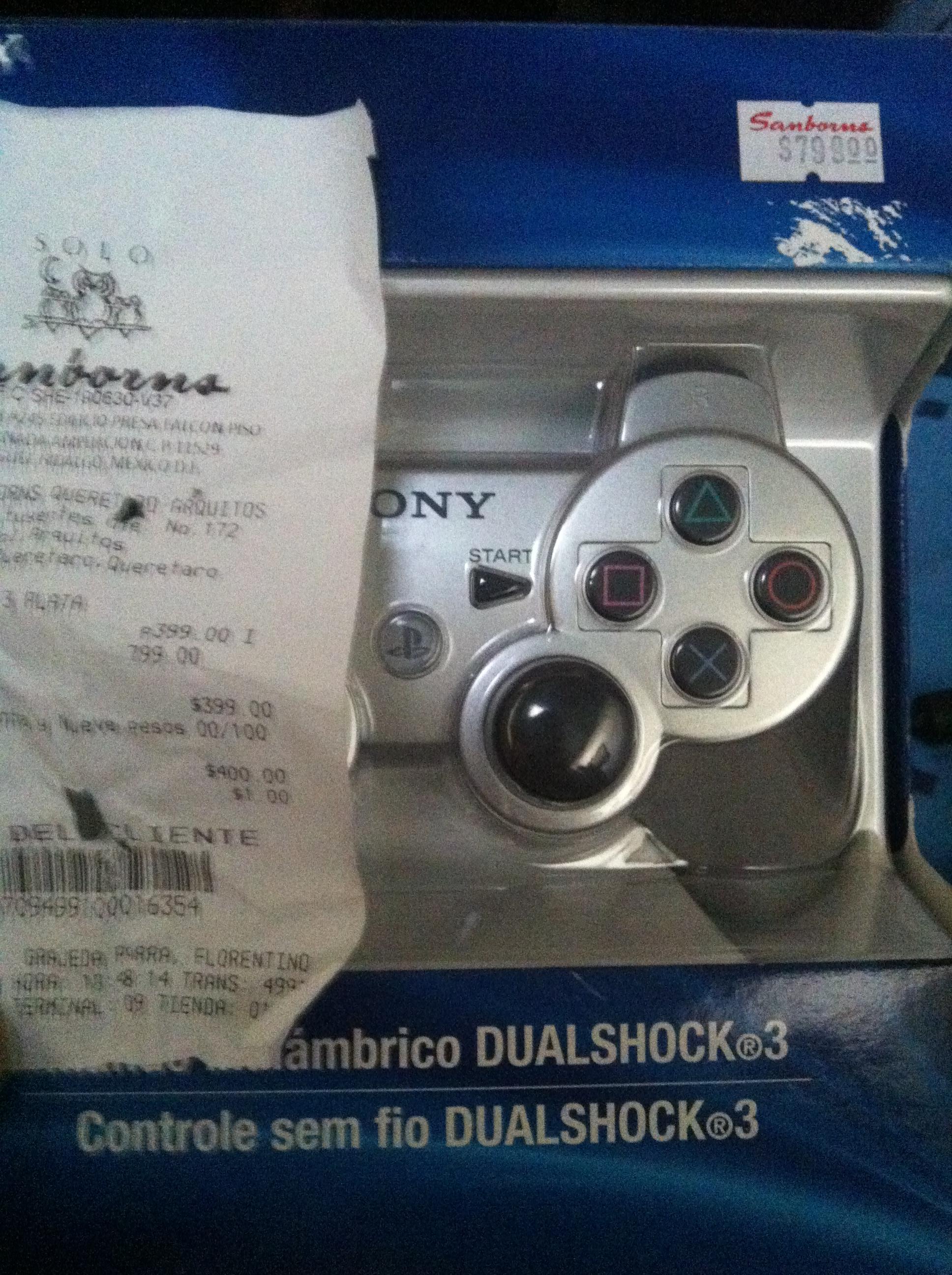 Sanborns: Control PS3 dualshock 3 a $399