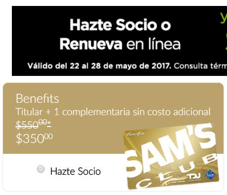 SAM'S: Membresia con $200 de descuento SOLO EN INTERNET