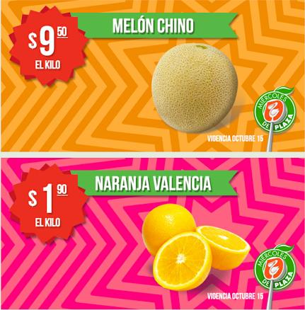 Miércoles de Plaza en La Comer octubre 15: naranja $1.90 el kilo y más