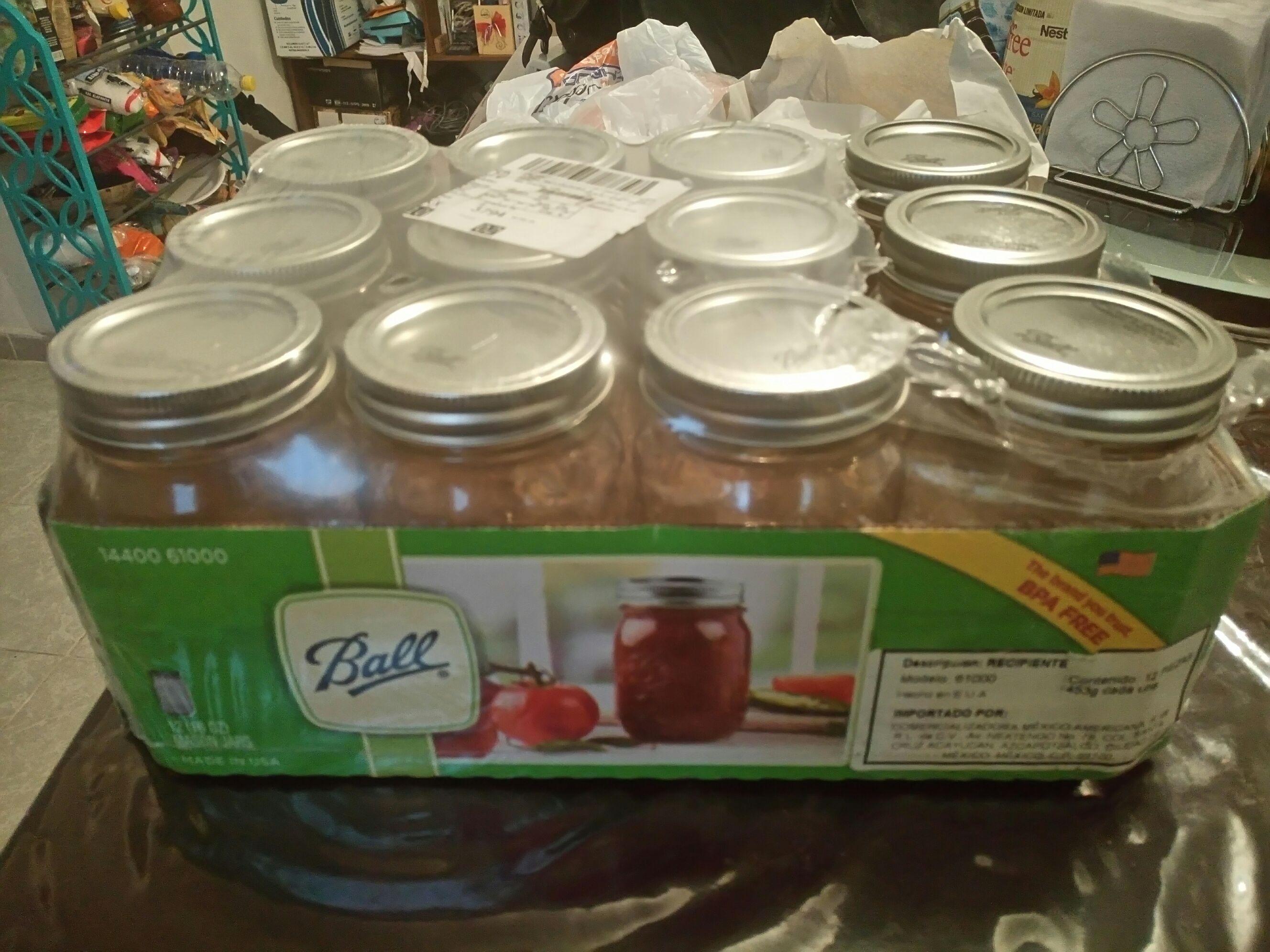 Walmart: Docena de frascos tipo Mason Jar