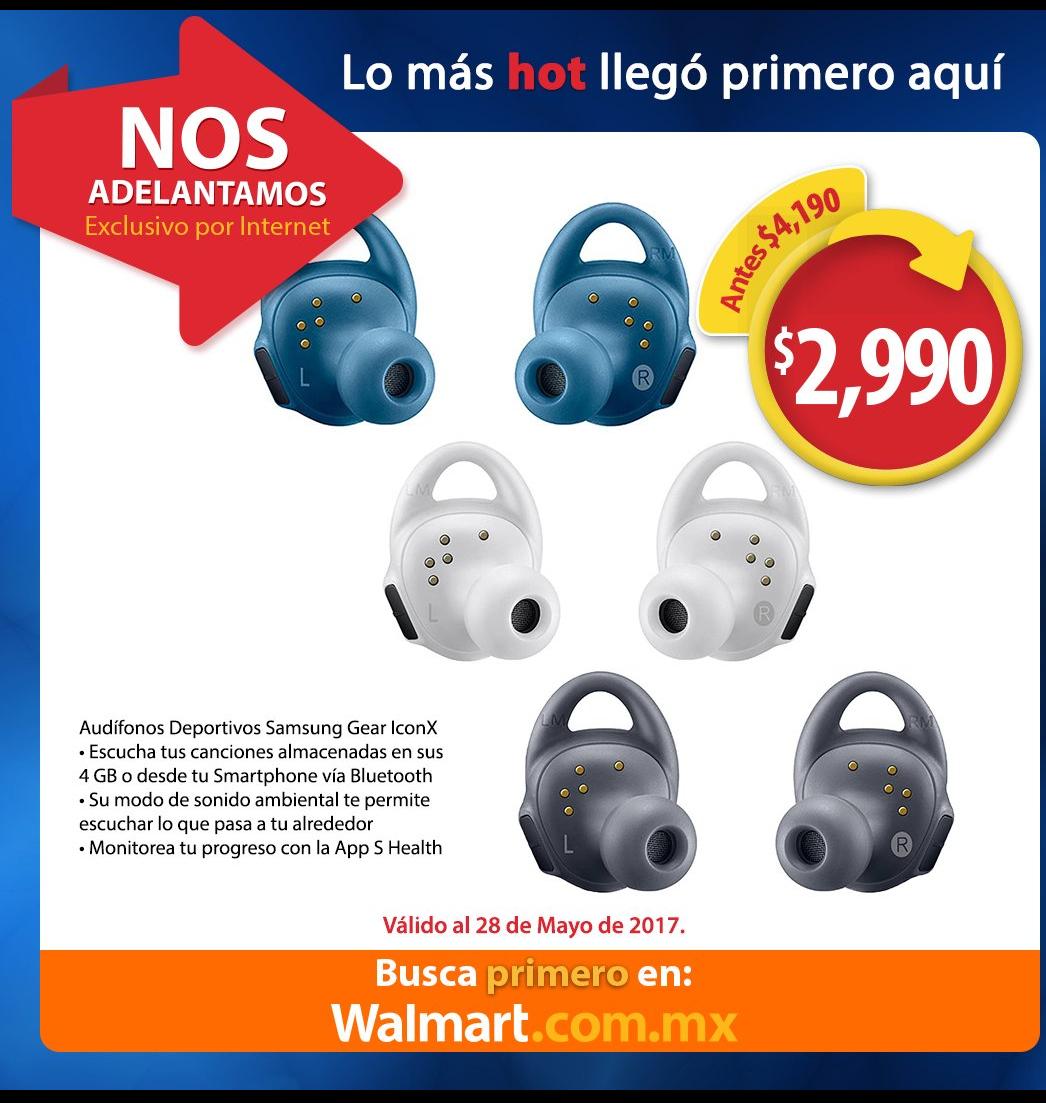 Walmart adelantos Hot Sale: Audífonos Samsung Gear iconX $2,990