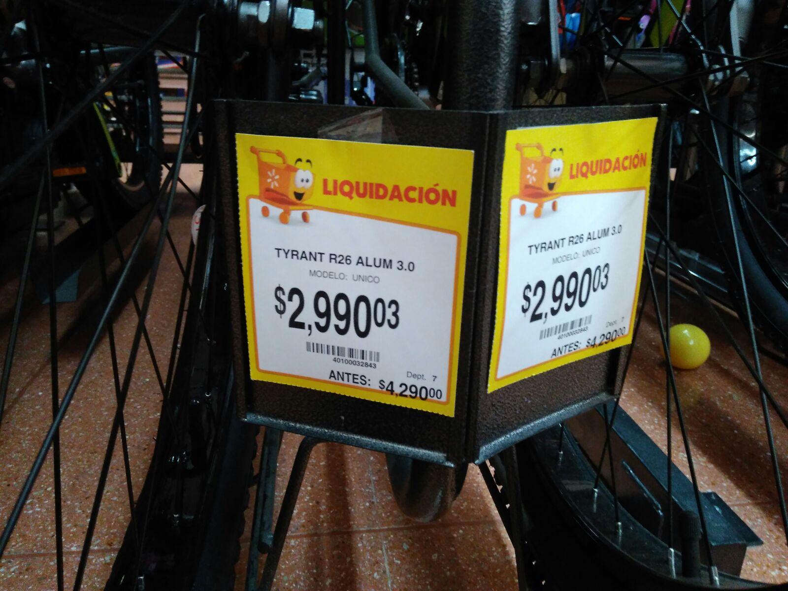 Walmart: Bicicleta Tyrant r26 Aluminio a $2,990.03