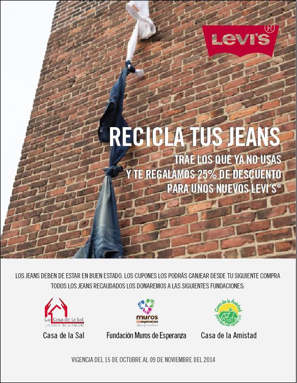 Levi's: 25%  de descuento en jeans nuevos al donar unos usados