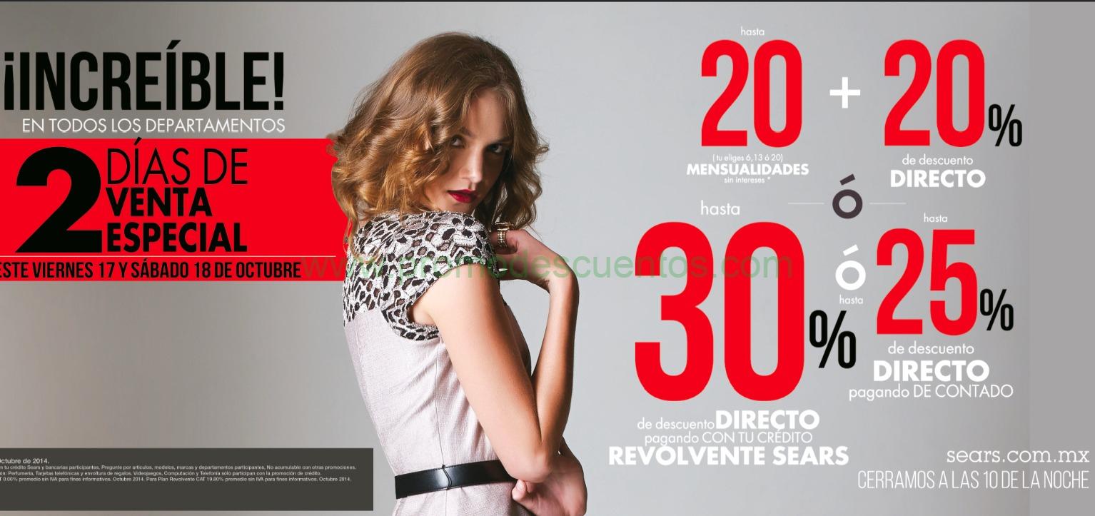 Venta especial Sears 17 y 18 de octubre