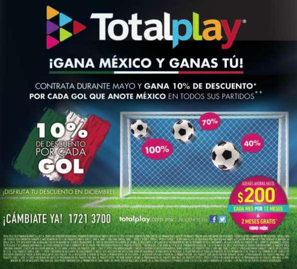 Totalplay: 10% de descuento por cada gol de México en el Mundial (nuevas contrataciones)