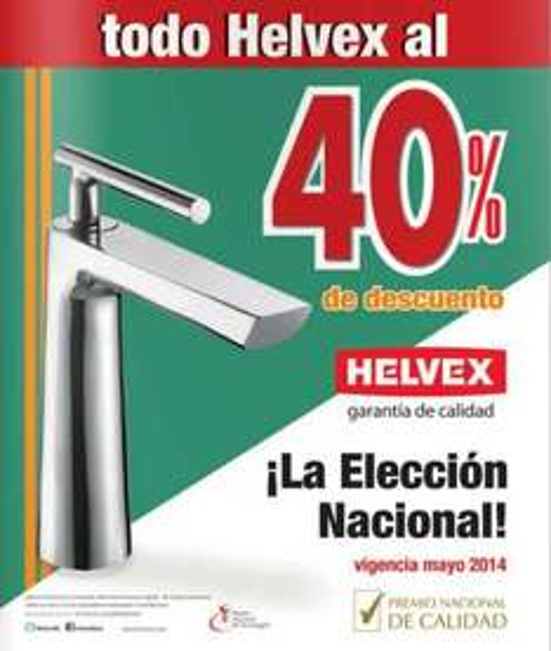 Helvex: 40% de descuento en toda la marca