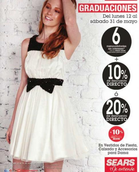 Sears: 20% de descuento en vestidos de fiesta, calzado y accesorios