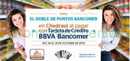 Chedraui: dobles Puntos Bancomer
