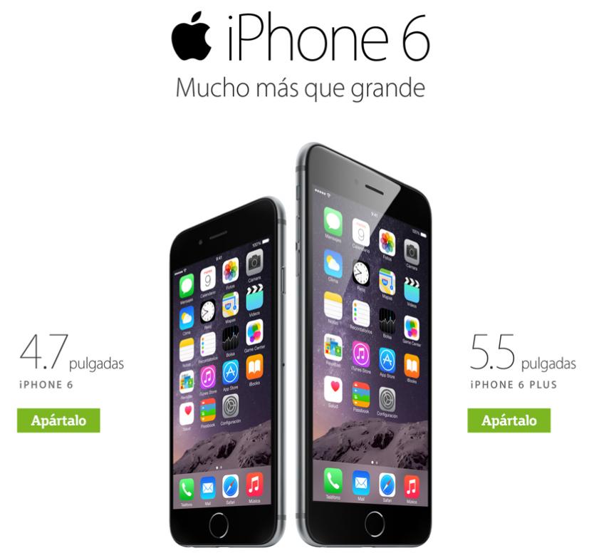 Apartado de iPhone 6 y iPhone 6 Plus en Telcel, Movistar y Nextel