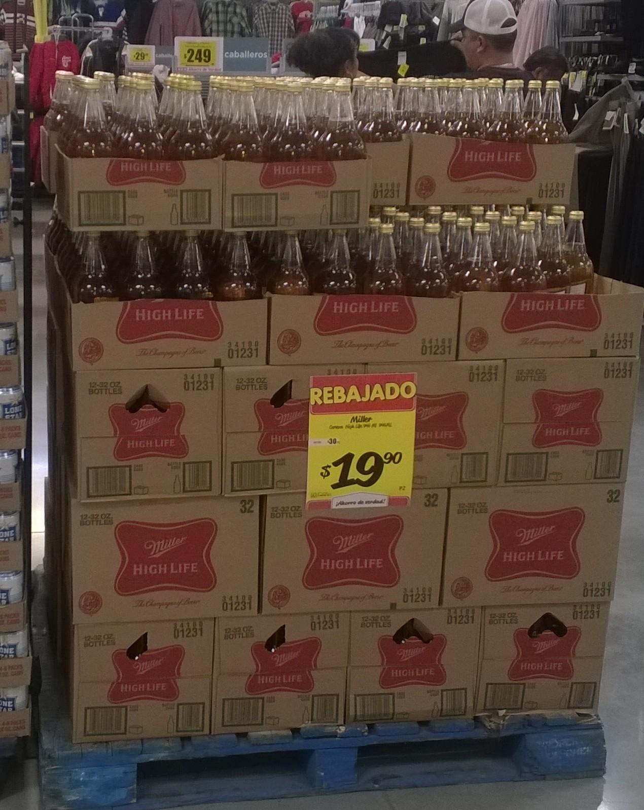 HEB: cerveza Miller 946ml