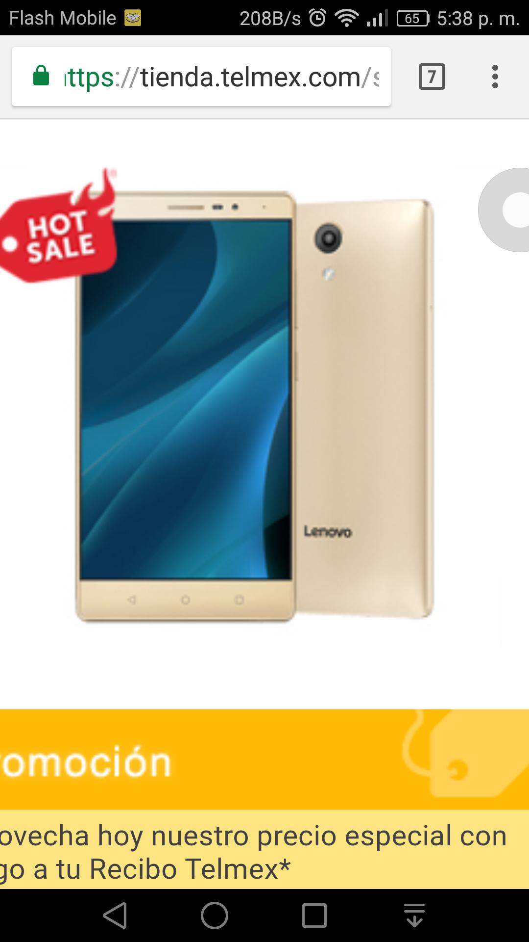 """Tienda Telmex: Smartphones Lenovo 6.4"""""""
