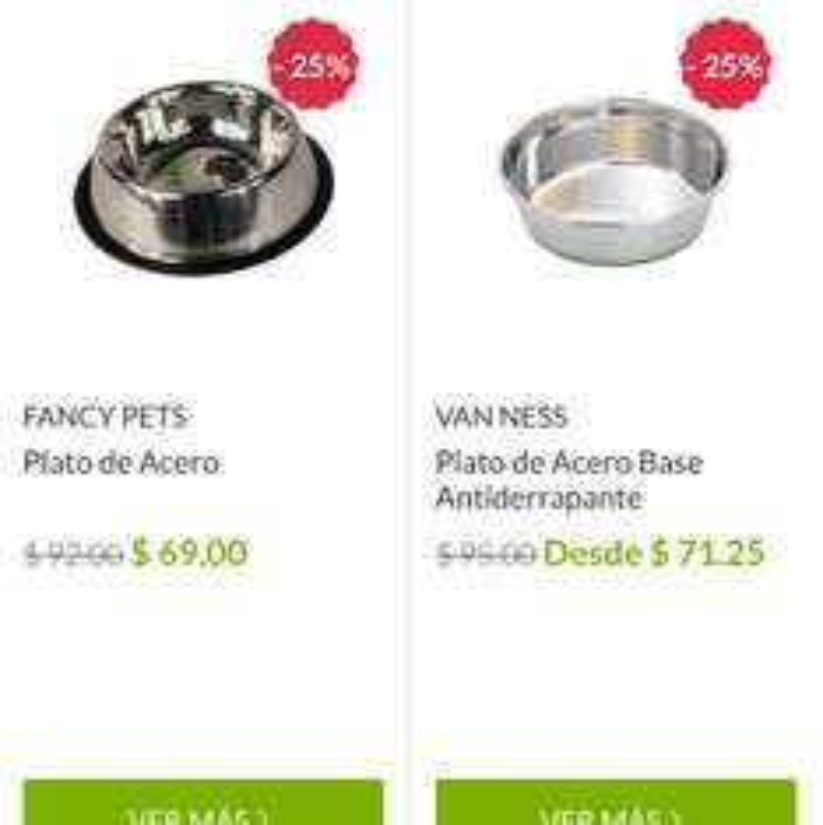 Petsy: Platos para mascotas con 25% de descuento