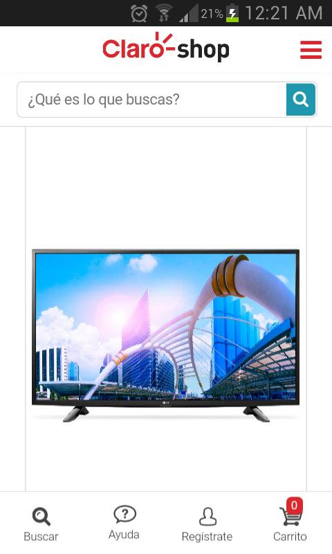 """Hot Sale 2017 Claro Shop: Pantalla smart tv LG de 43""""  FHD 43LH570A"""
