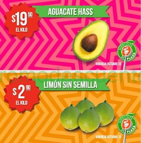 Miércoles de plaza en La Comer octubre 22: limón $3 el kilo y más