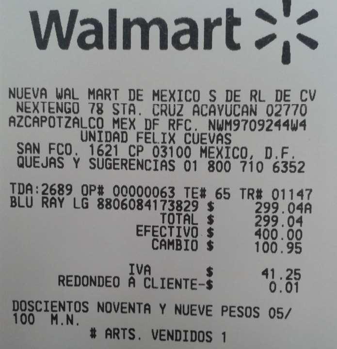 Walmart: blu-ray LG 3D smart $299