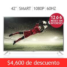 "Costco: LG LED 42"" Smart TV 1080p 60Hz $5,999 y meses sin intereses"