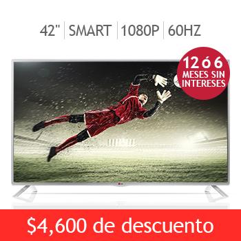 "Costco: LG LED 42"" Smart TV 1080p 60Hz $5,999 y meses sin intereses"