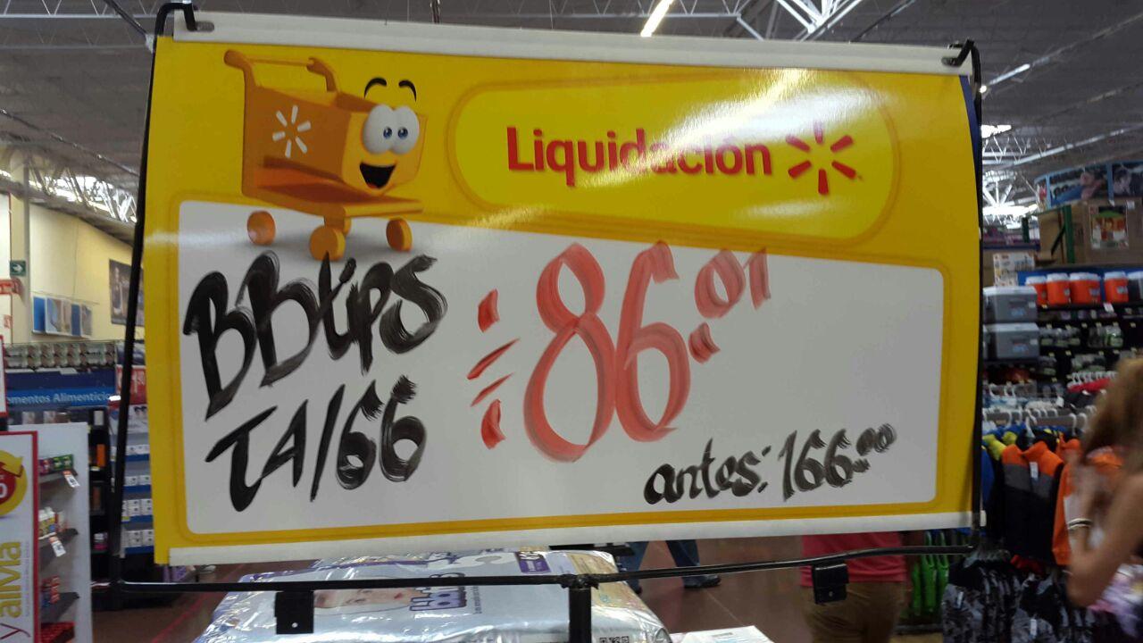 Walmart: liquidación de pañales bbtips (66 por $86)