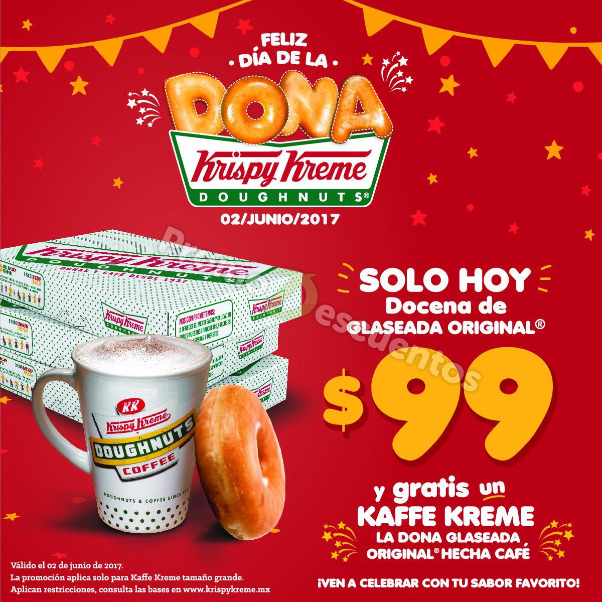 Krispy Kreme: docena de donas glaseadas a $99 y GRATIS un Kaffe Kreme grande