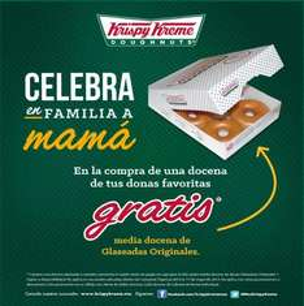 Krispy Kreme: 2x1 y medio en docena de donas